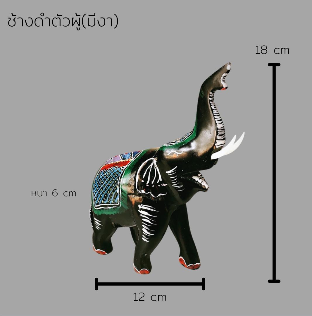 ช้างดำตัวผู้(มีงา)