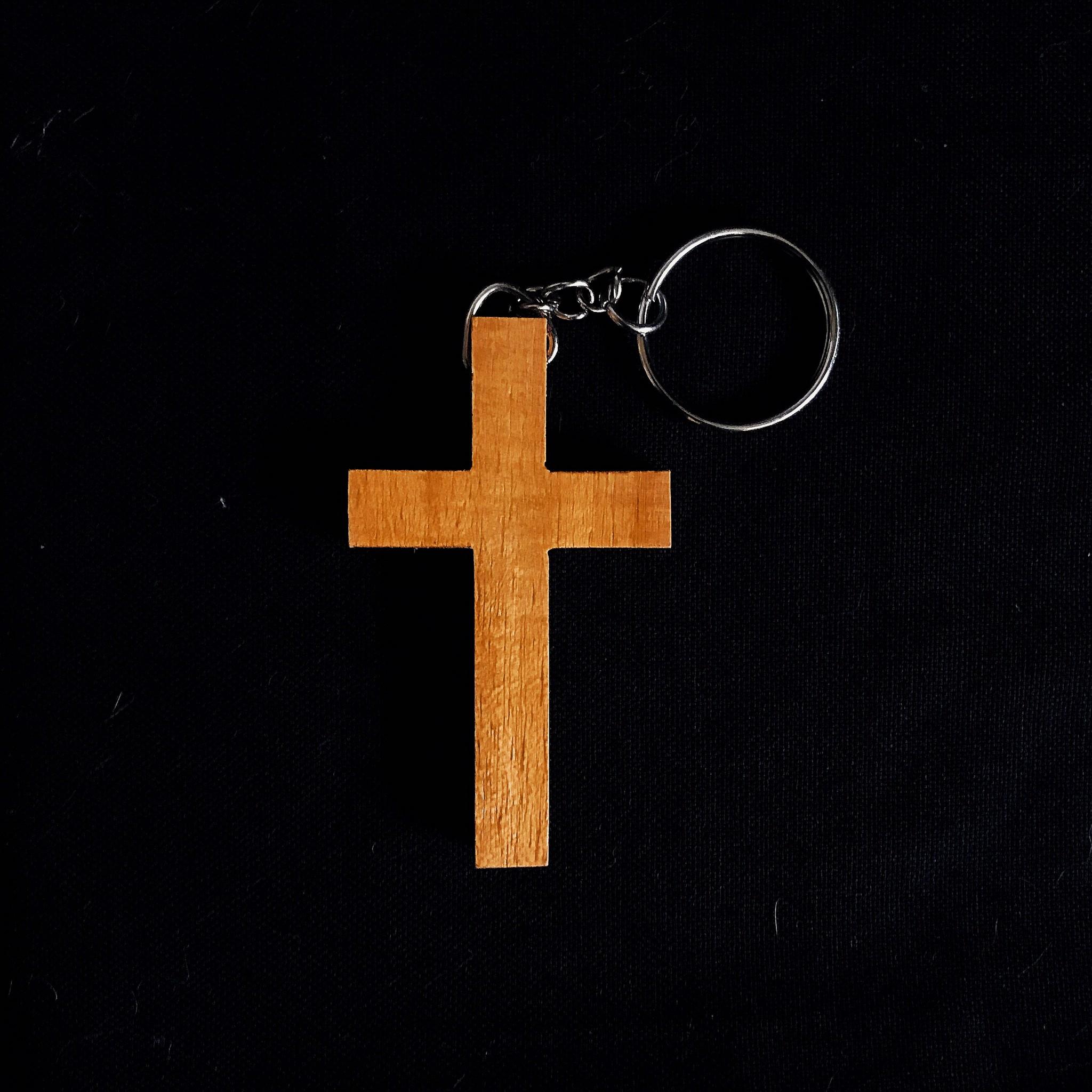 พวงกุญแจไม้กางแขน(แบบที่2)